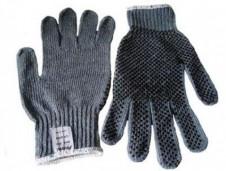 Luva tricotada com pigmento